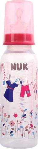 Nuk Classic Μπιμπερό Πολυπροπυλενίου (PP) Ροζ, Θηλή Σιλικόνης Νο 1, 240ml