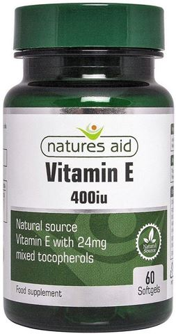 Natures Aid Vitamin E 400iu Natural Form 30 Softgels
