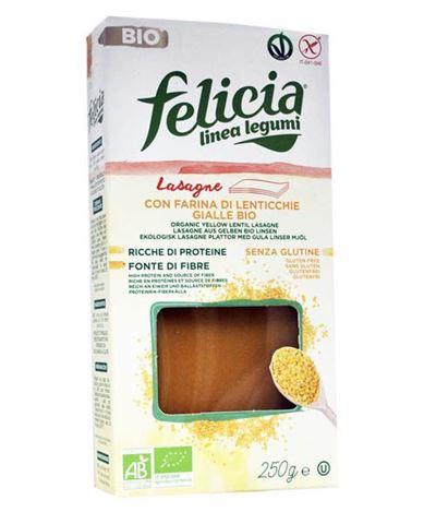 Felicia Λαζάνια Κίτρινης Φακής 250γρ Χωρίς Γλουτένη BIO
