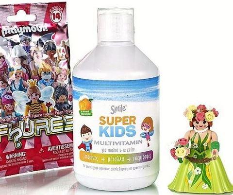 Smile SuperKids Multivitamin, 500ml δώρο φιγούρα για κορίτσι