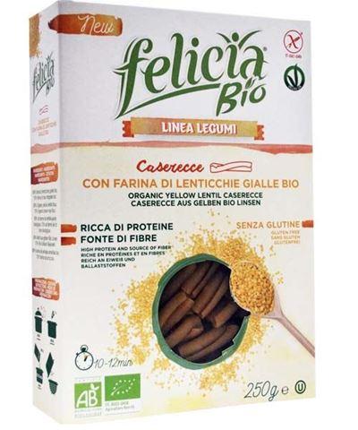 Felicia Στριφτάρια (Casarecce) Κίτρινης Φακής 200γρ Χωρίς Γλουτένη BIO