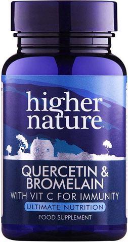 Higher Nature Quercetin & Bromelain 60 Ταμπλέτες