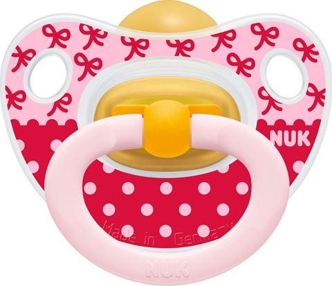 NUK Classic Happy Kids Καουτσούκ με Κρίκο Κόκκινη, 18 Μηνών&Άνω.