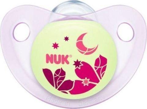 Nuk Trendline Night & Day Σιλικόνης Κόκκινο Φεγγαράκι 0-6m 1τμχ