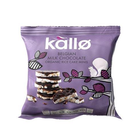 Kallo Μίνι Ρυζογκοφρέτες με Βέλγικη Σοκολάτα 40γρ