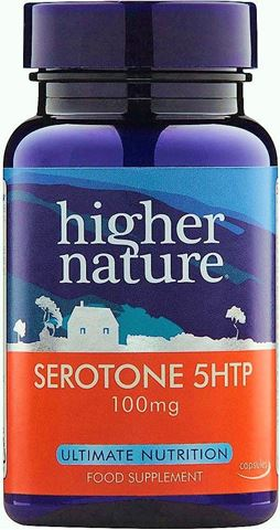 Higher Nature Serotone-5 HTP 100mg 30 Φυτικές Ταμπλέτες