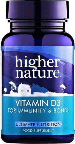 Higher Nature Vitamin D3 500iu 120 Μαλακές Κάψουλες