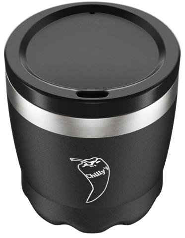 Chillys Coffe Cup Black από Ανοξείδωτο Ατσάλι 230ml