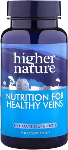 Higher Nature Nutrition For Healthy Veins 90 Φυτικές Κάψουλες