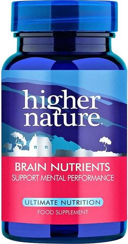 Higher Nature Brain Nutrients 30 Κάψουλες