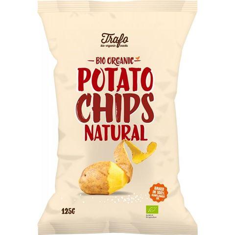 Trafo Τσιπς Πατάτας Φυσική Γεύση (με αλάτι) ΒΙΟ 125γρ