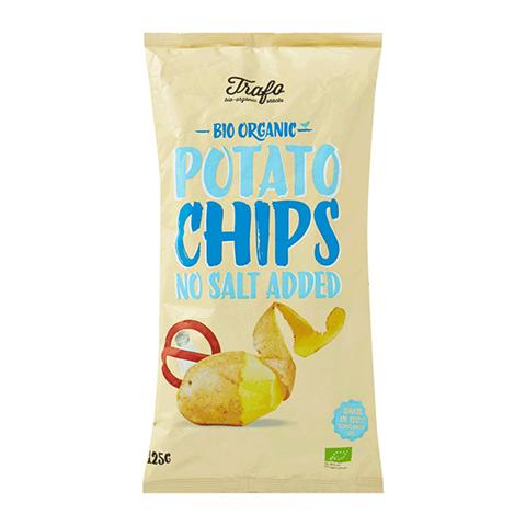 Trafo Τσιπς Πατάτας Φυσική Γεύση (χωρίς αλάτι) ΒΙΟ 125γρ