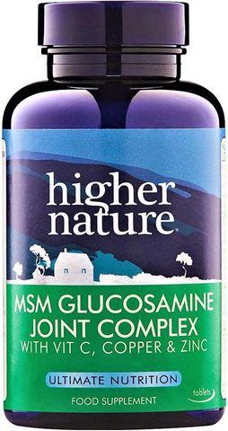 Higher Nature MSM Glucosamine Joint Complex 90 Φυτικές Ταμπλέτες