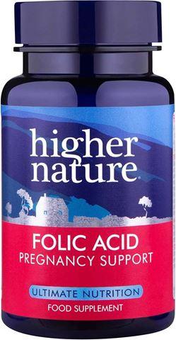 Higher Nature Folic Acid 400 μg 90 Φυτικές Ταμπλέτες