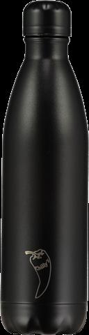 Chillys All Black Παγούρι από Ανοξείδωτο Ατσάλι 750ml