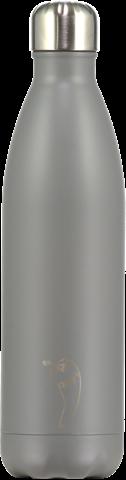 Chillys Monochrome Grey Παγούρι από Ανοξείδωτο Ατσάλι 750ml