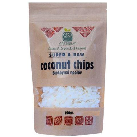 Greenbay Coconut Chips, Νιφάδες Καρύδας -RAW -BIO 150gr