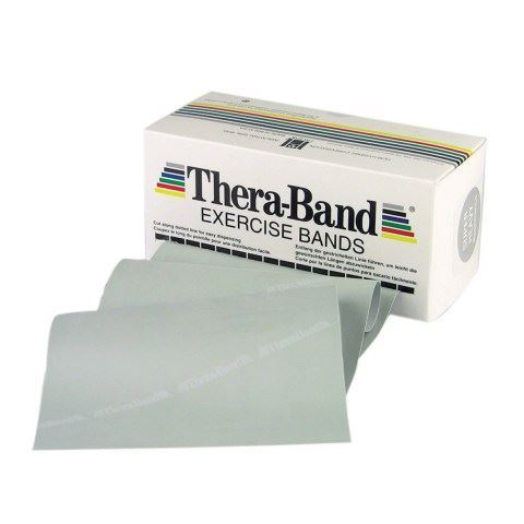 TheraBand Professional Resistance Bands 5,50m Λάτεξ Ασημί/Super Heavy (4.64kg)