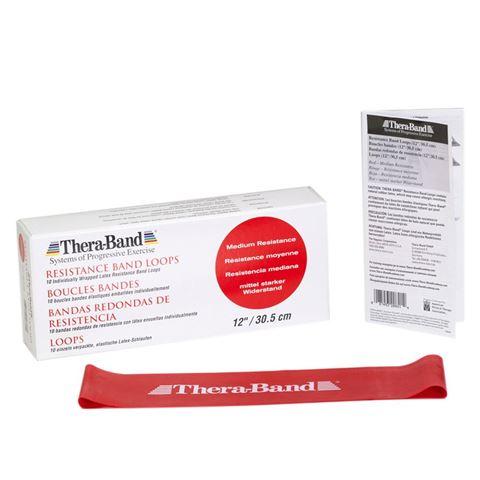 TheraBand Professional Resistance Mini Band, Κυκλική Θηλιά Medium / Red 7,6 x 30,5 cm