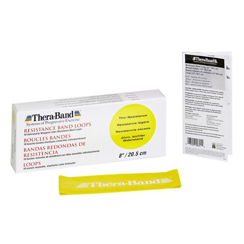 TheraBand Professional Resistance Mini Band, Κυκλική Θηλιά Thin / Yellow 7,6 x 20,5 cm