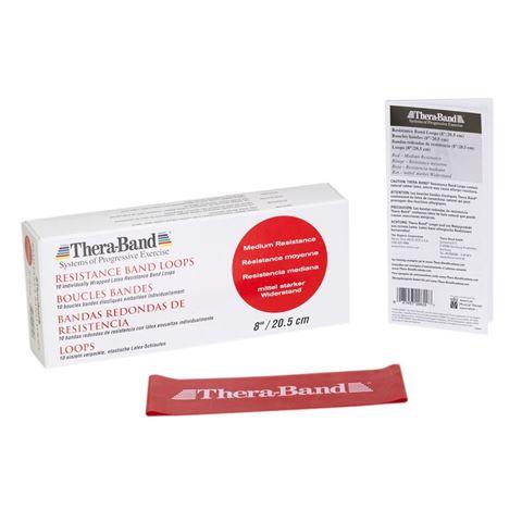TheraBand Professional Resistance Mini Band, Κυκλική Θηλιά Medium / Red 7,6 x 20,5 cm