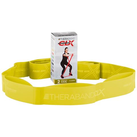 TheraBand CLX 11 Loops Individual - Yellow / THIN (1.36kg)