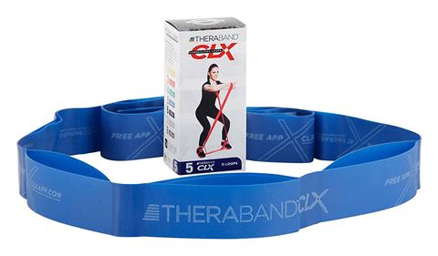 TheraBand CLX 11 Loops Individual - Blue / EXTRA HEAVY (2.64kg)
