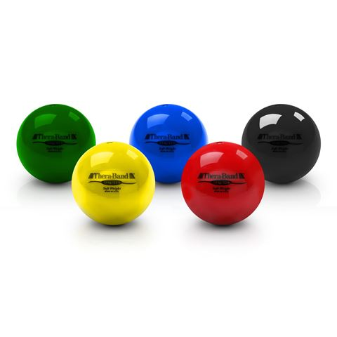 TheraBand Soft Weights Set of 6 Balls (Tan, Yellow, Red, Green, Blue, Black)
