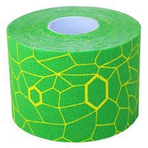 TheraBand Kinesiology Ταινία Κινησιοπερίδεσης 5cm x 5m Electric Green/Yellow Print