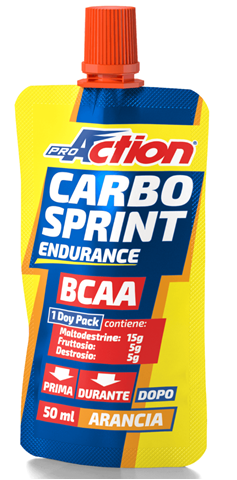 ProAction Carbo Sprint BCAA - Πορτοκάλι 50ml