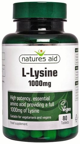 Natures Aid L-Lysine 1000mg, 80 Ταμπλέτες