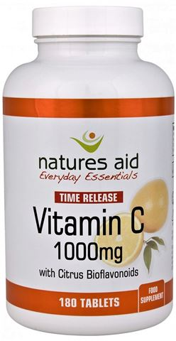 Natures Aid Vitamin C 1000mg Time Release (with Citrus Bioflavonoids) 180 Ταμπλέτες