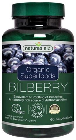 Natures Aid Bilberry 75mg (equivalent to 7500mg of bilberries) - 60  Φυτικές Κάψουλες