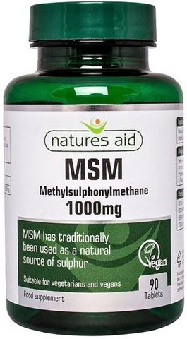 Natures Aid MSM 1000mg - 90 Ταμπλέτες