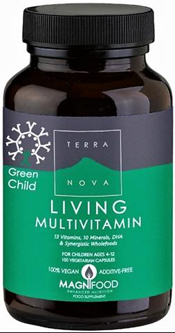 Terranova Green Child Living Multivitamin 100 Κάψουλες