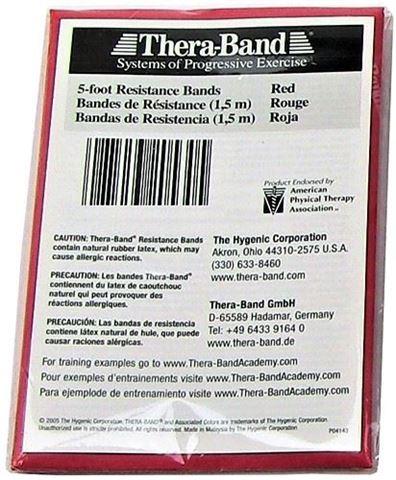 TheraBand Κόκκινος / Medium Ελαστικός Ιμάντας Αντίστασης 150cm