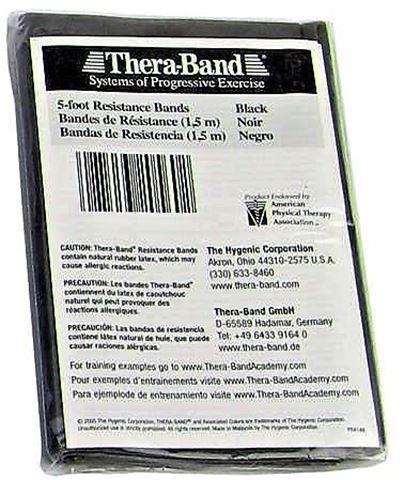 TheraBand Μαύρο / Specia Heavy Ελαστικός Ιμάντας Αντίστασης 150cm