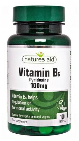 Natures Aid Vitamin B6 100mg - 100 Ταμπλέτες