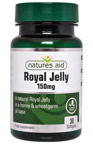 Natures Aid Royal Jelly 150mg (Honey & Wheatgerm Base) - 30 Φυτικές Κάψουλες
