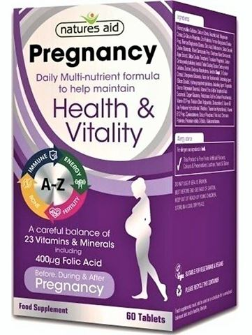 Natures Aid Pregnancy Multi-Viamins & Minerals (Before,During & After) - 60 Tabs