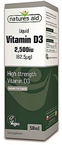 Natures Vitamin D3 2500iu Liquid - 50ml