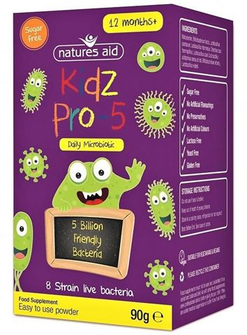 Natures Aid Kidz PRO-5 Probiotic Powder (1-12 years)- 90g
