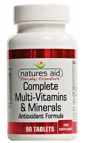 Natures Aid Complete A-Z Multi-Vitamins & Minerals (for Vegetarians & Vegans) - 90 Ταμπλέτες