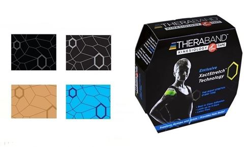 TheraBand Kinesiology Tape- Blue/Blue Print