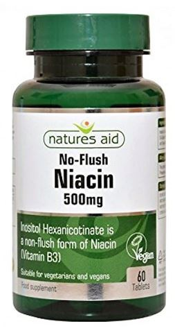 Natures Aid Niacin (B3) 500mg (No Flush) - 60 Ταμπλέτες