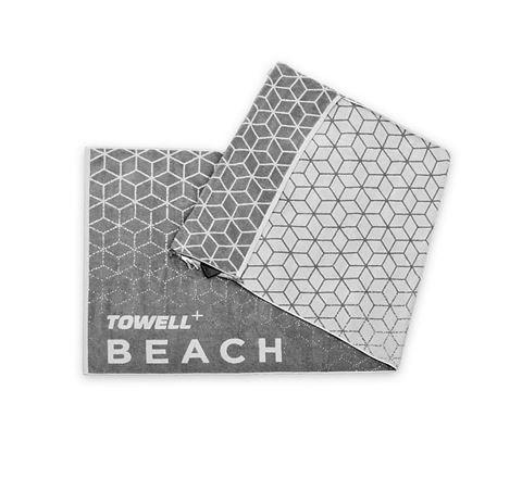Stryve Towell+ Beach Πετσέτα Θαλάσσης 180cm x 90 Γκρι