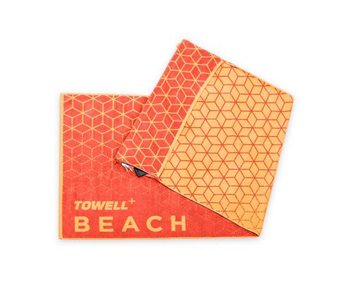 Stryve Towell+ Beach Πετσέτα Θαλάσσης 180cm x 90 Πορτοκαλί