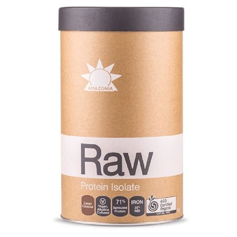 Amazonia Raw Βιολογική Ωμή Πρωτεϊνη Isolate Κακάο & Καρύδα 1kg