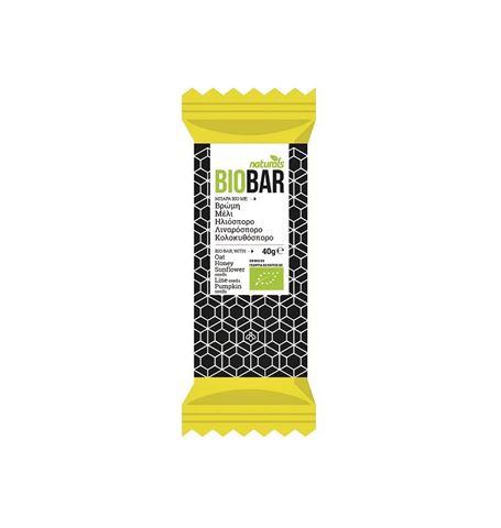 Naturals BioBar με Βρώμη, Μέλι, Ηλιόσπορο, Λιναρόσπορο, Κολοκυθόσπορο 40gr