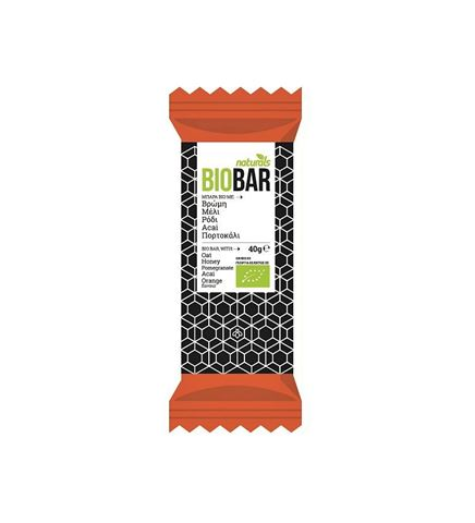 Naturals BioBar με Μέλι, Ρόδι, Αcai, Πορτοκάλι 40gr